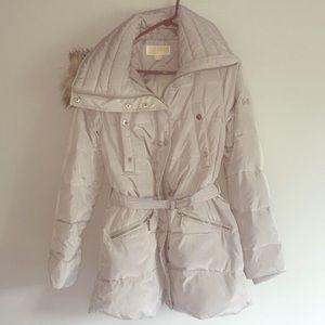 Michael Kors M Fur Hooded Parka Jacket Coat